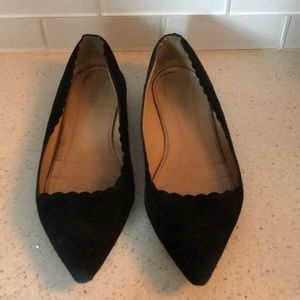 J. Crew Harper Suede Scalloped Flats - Size 7.5M